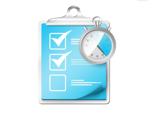 check list icon checklist with stopwatch icon e